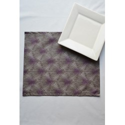 Wipe clean placemats Feathers taupe