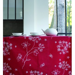 Chemin de table Astrance rouge