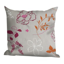 Camelia orange cushion