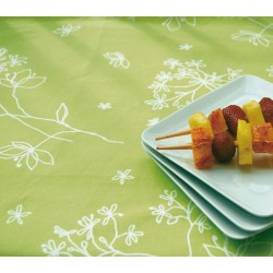 Wipe clean tablecloth Astrancia Green Anis 120x160