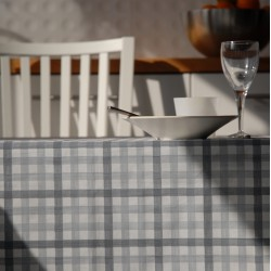 Wipe clean tablecloth Gingham Blue