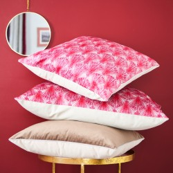 Coussin velours plumes rouge