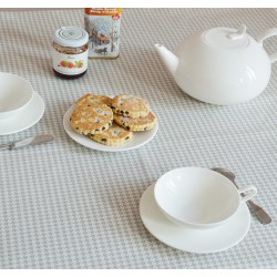 Set de table Pied de poule gris/blanc