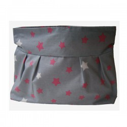 fleur de soleil coated cotton wipeable toilette bag