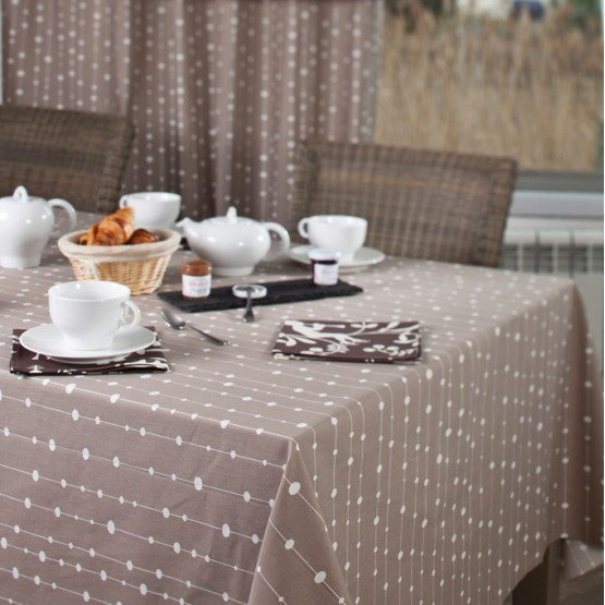 nappe enduite perles taupe fleur de soleil. Black Bedroom Furniture Sets. Home Design Ideas