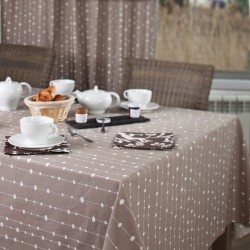 wipe clean tablecloth Pearls taupe
