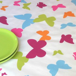 WIPE CLEAN TABLECLOTH BUTTERFLY MULTICOLOURED