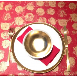 WIPE CLEAN TABLECLOTH PASTILLE RED
