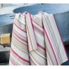 WIPE CLEAN TABLECLOTH STRIPES TAUPE