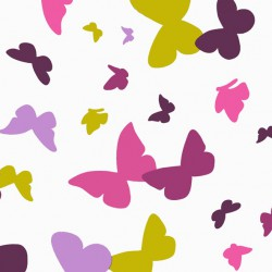 Wipe clean fabric cut Butterfly green/purple