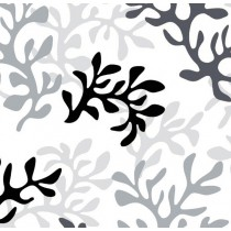Cotton fabric coated with grey Coral