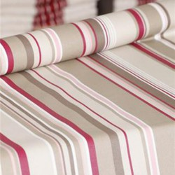 Wipe clean fabric cut Stripes taupe