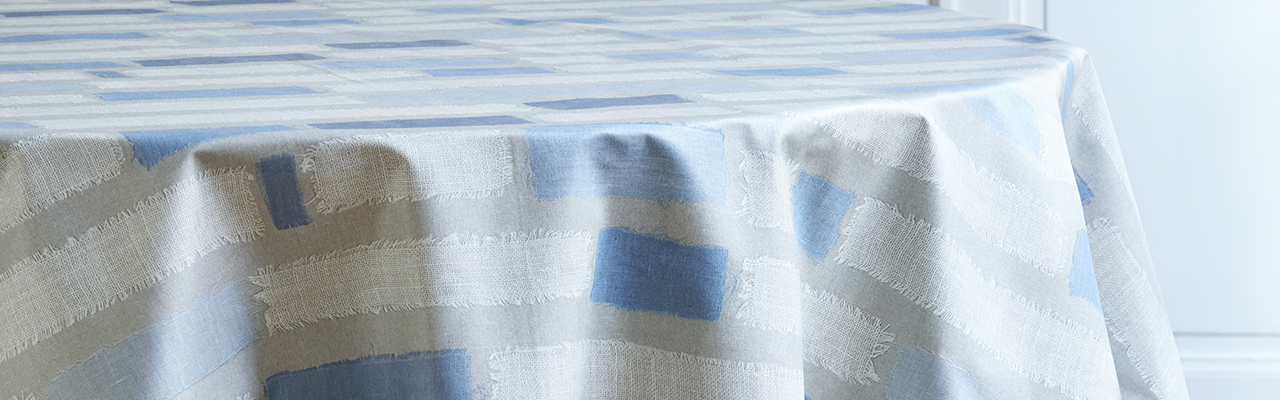 French Wipeable Tablecloth And Fabric Fleur De Soleil