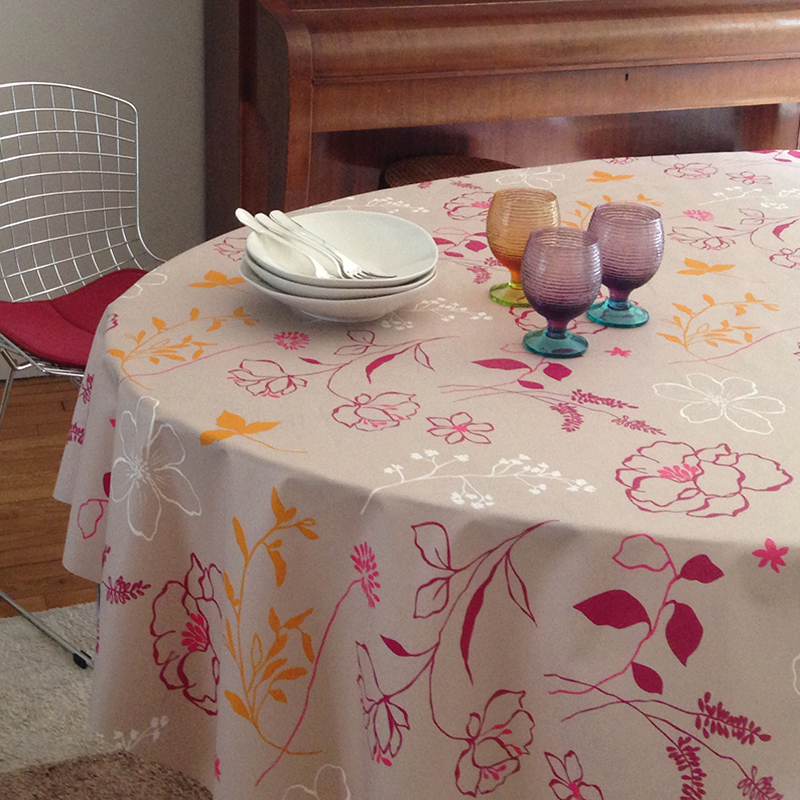 french wipeable tablecloth and fabric fleur de soleil. Black Bedroom Furniture Sets. Home Design Ideas